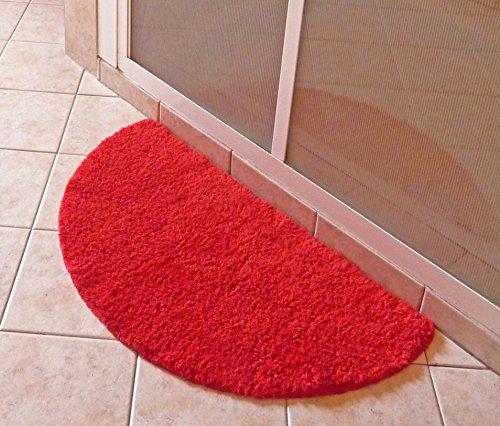 CASA TESSILE Simple tappeto bagno Mezzaluna cm 35X70 antiscivolo - Beige