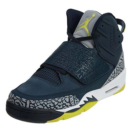 Jordan Son of BG Boys Basketball-Shoes 512246-405_5Y - Armory Navy/ELECTROLIME-White-Wolf Grey