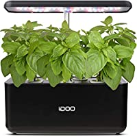 Idoo Hydroponics Indoor Herb Garden Starter Kit with LED Grow Light