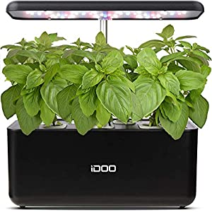 iDOO Hydroponics Growing System, 7Pods Mini Herb Garden with Pump System, Germination Kit with LED Light, Automatic…