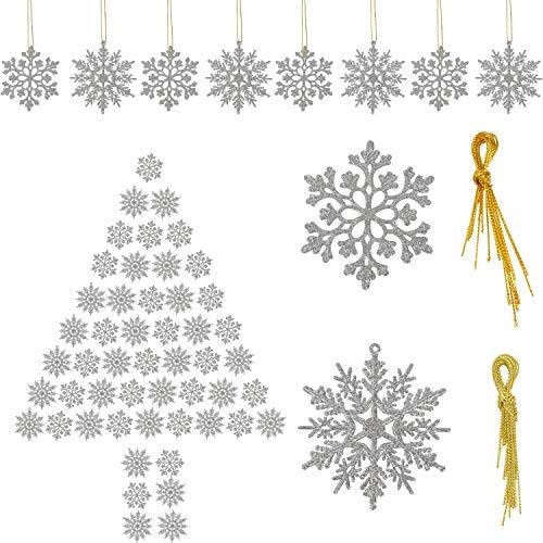 Fiocchi di Neve Decorazioni Natalizie Ornamenti in Fiocco di Neve per Albero di Natale Finestre Muro Porta Tocco Natale