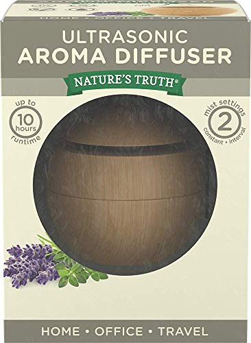 Nature's Truth Ultra-Sonic Aromatherapy Elegant Wood-Look Diffuser w/USB Adapter