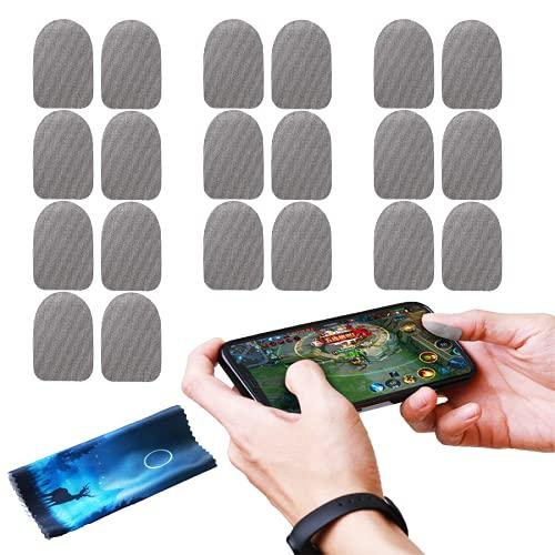 BAYINBROOK 20 pezzi di traspirante a prova di sudore guanti touch screen controller del gioco pollice adesivi dito per PUBG mobile game accessori