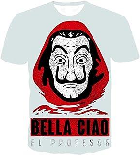 PAND Men/Women T-Shirt La Casa De Papel T Shirt Money Heist Tees Tv Series Short Sleeve T-Shirts Man House Of Paper Tee Shirt Homme