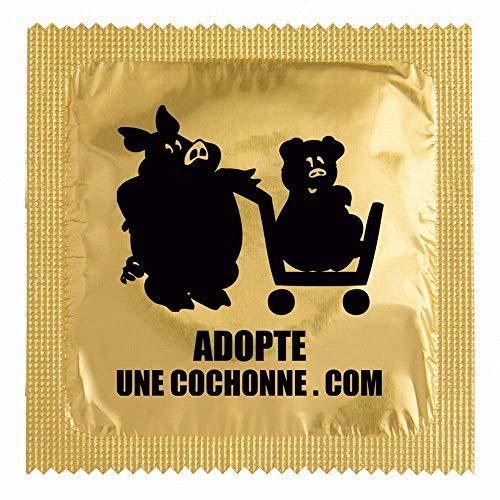 biwi-shop Préservatif Humoristique Adopte Une cochonne