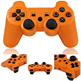 WONFAST Wireless Bluetooth Game Controller for PlayStation 3 PS3 (Orange)