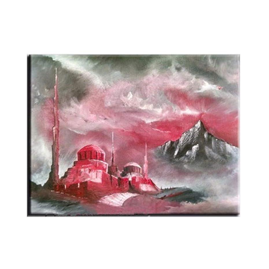 地質学入場正当な手描き抽象ピンク風景オイルはキャンバス現代のホームルームの装飾壁のアート写真の手作りアクリル絵画絵画,70x110cm