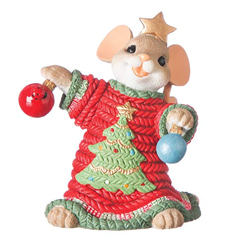 Roman - Charming Tails Collection, Ugly Sweater Figure, 3' H, Resin and Stone, Durable, Collectibles, Cute Decorative Figurine, Home, Decor