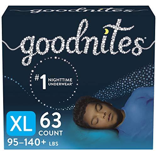 Goodnites Nighttime Bedwetting Underwear, Boys' XL (95-140 lb.), 63ct, FSA/HSA-Eligible