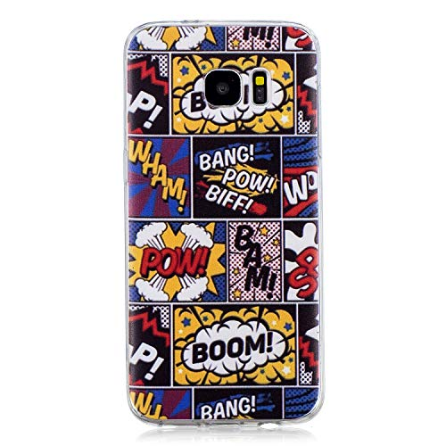 Diseñado específicamente para el Samsung Galaxy S7 Edge Compatible con Todas las compañías. Material:La fantástica funda Crystal-Case de TPU es flexible, y no oloroso . ultra-fina, durable. Durable de alta calidad para una mejor absorción de golpes, ...