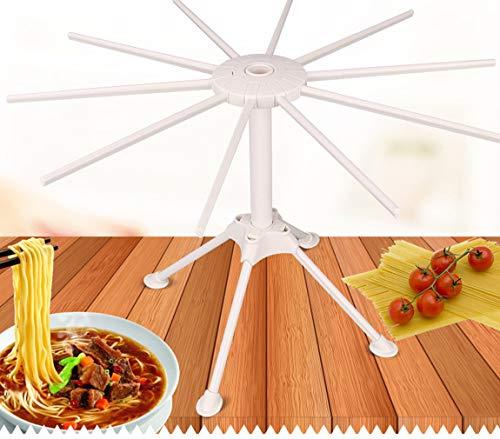 Küchen-Trockner für Pasta, klappbar Pasta Trocknen Rack Spaghetti Trockner Ständer Nudeln Trocknen Halterung zum Aufhängen Rack-für einfache Aufbewahrung (weiß)