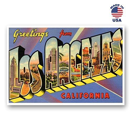 Grüße von Los Angeles Vintage Nachdruck-Postkarten-Set von 20identische Postkarten. Groß Los Angeles, Kalifornien Stadt und Staat Namen Post Card Pack (ca. 1930's-1940's). Hergestellt in Den USA.