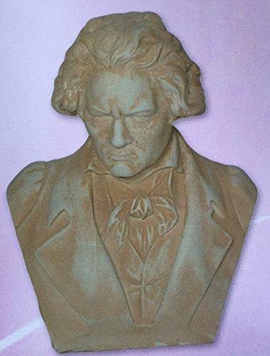 Buste Beethoven, statue en béton, mesures: 35x 45cm.
