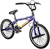 F.lli Schiano BMX Freestyle Hard Road Vélo Garçon, Bleu/Jaune, Taille 20'