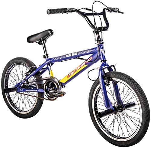F.lli Schiano Hard Road Bmx 20 Bicicletta, Multicolore (Blu/Giallo), M