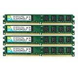 DUOMEIQI 8GB Kit (4X 2GB) 2RX8 DDR2 800MHz DIMM PC2-6300 PC2-6400 CL6 1.8v 240 Pin Non-ECC Módulo RAM de Memoria de Escritorio sin búfer Compatible con el Sistema Intel AMD