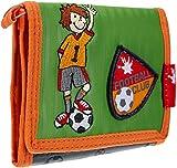 SIGIKID 23814 Brustbeutel Killy Keeper Mädchen und Jungen Kinder-Portemonnaie empfohlen ab 3 Jahren grün/orange