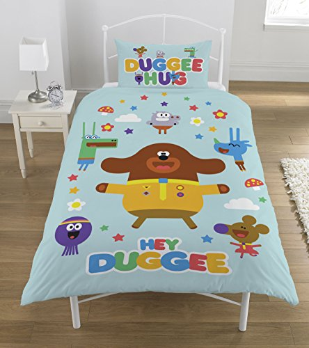 Hey Duggee 'Hello Squirrels' Single Duvet Set, Polyester-Cotton, Multi-Colour