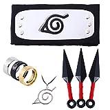 YN Einstellbare Metall Blatt Stirnband, Stirnband, Ring Halskette, Halskette Mit, Set Ring Halskette, Stirnband für Cosplay (3)