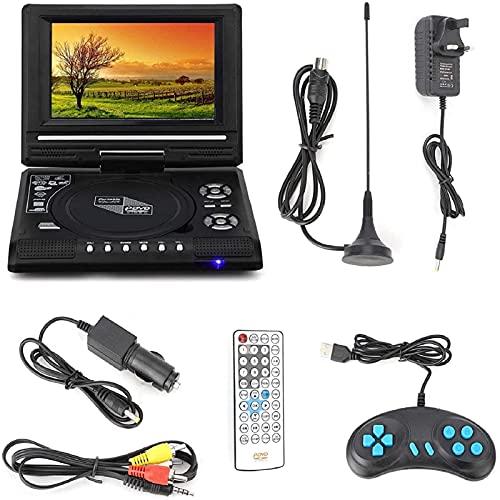 YEEGO Reproductor portátil de 7,8 pulgadas reproductor multimedia digital reproductor de juegos TV reproductor de batería incorporado USB entrada reproductor fácil llevar