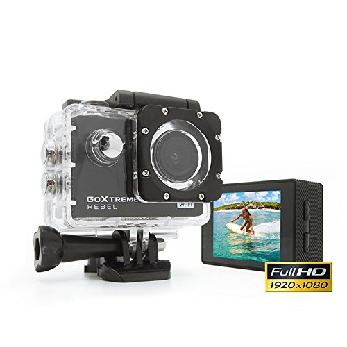 GoXtreme 'Rebel' HD Action Cam mit Webcam-Funktion, 140° Weitwinkel, WiFi, 30 m wasserfest
