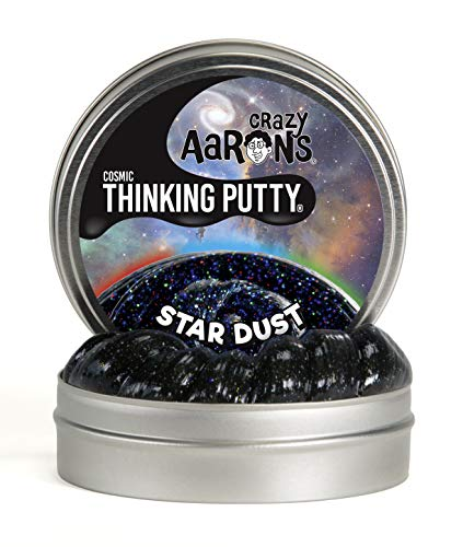 Crazy Aaron's Thinking Putty 4' Tin - Cosmic Star Dust - Multi-Color Sparkle Glow Putty, Soft Texture - Never Dries Out
