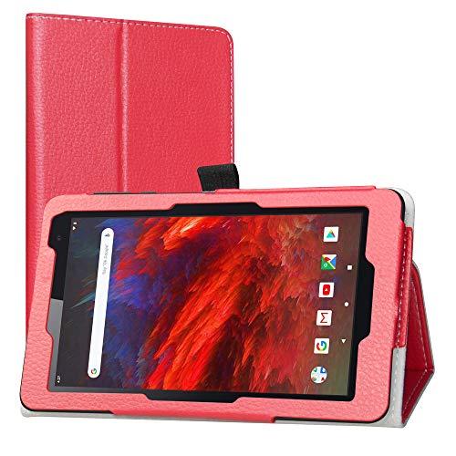 LiuShan Compatibile con VANKYO MatrixPad Z1 Custodia,slim Sottile Pieghevole con supporto in Piedi caso per 7  VANKYO MatrixPad Z1   MatrixPad S7   Dragon Touch M7   HAOQIN H7   Pritom 7,Rosso