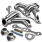 2pcs 4-1 High Performance Stainless Steel Exhaust Header Manifold Replacement for Chevy Small Block SBC Hugger 283 305 327 350 400