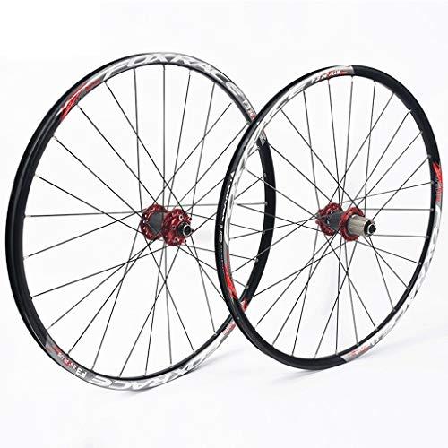 WWL Ruedas Ciclismo Liberación Rápida Freno Disco Juego Ruedas Bicicleta Montaña 26'27,5' 24 Orificios Compatible 7/8/9/10/11 Velocidad (Color : D, Size : 27.5inch)