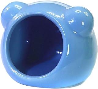 Plus Nao(プラスナオ) セラミックハウス 小動物用品 ハムスター用 コンパクト ひんやり クール 冷却 夏 暑さ対策 クマ型 単色 シンプル お