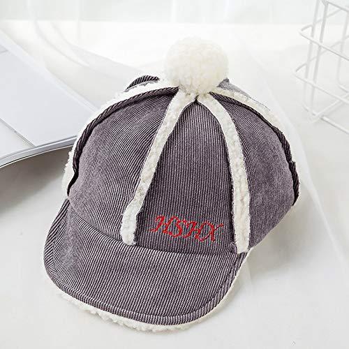 mlpnko Kinder Lammfell Mützen warme Hüte männlichen weichen Hüte Flip Mädchen kalten Baseball Farbe 47-50cm