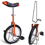 Bright Orange 18 Inch In 18' Mountain Bike Wheel Frame Unicycle Cycling Bike With Comfortable Release Saddle Seat