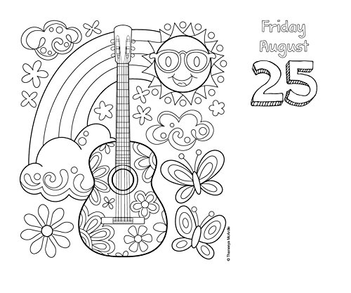 Posh: Coloring 2017 Day-to-Day Calendar