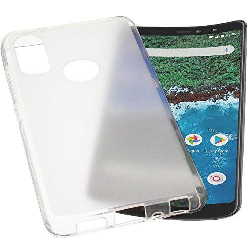foto-kontor Tasche für Bq Aquaris X2 / X2 Pro Hülle Gummi TPU Schutz Handytasche transparent