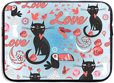Lovers Cats 15inch New popularity Portable Water Laptop Resistant Du Max 69% OFF Bag Sleeve