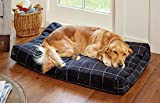 Orvis Toughchew Comfortfill-eco Platform Dog Bed / Large Dogs 60-90 Lbs., Charcoal, Large