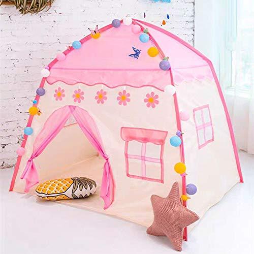 JINGBU 1.3 M portátil tienda de campaña infantil plegable tienda de bebé casa de juego grande niña rosa princesa castillo decoración de la habitación de los niños