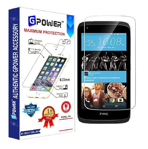 G-POWER ®2.5D 0.3mm Tempered Glass Screen Protector for HTC Desire 526 with Installation Kit