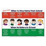教育ポスター12x 18。。。 Stay Home Sick (Not Laminated) #5000-STAYHOMEWHEN-1218