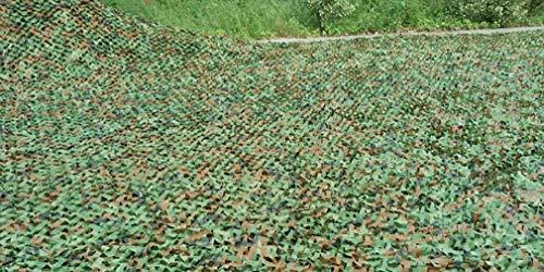 Red de Camuflaje Protección Solar 5X6m(16ft X 20ft) , de Bosque, Camping Militar Caza Persianas de Tiro Selva Red Tienda Restaurante Hogar Techo Decoración de la Pared Malla de Camuflaje Sombreado