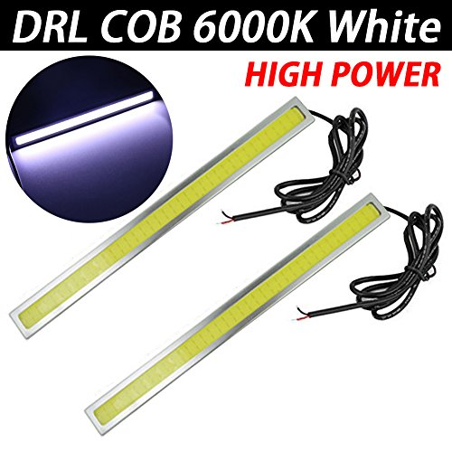 TABEN 2 pcs étanche de Voiture 12 V à LED COB Lampes Haute Puissance DRL Brouillard Conduite Lampe Blanc