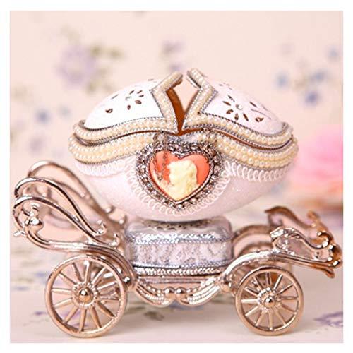 Cajas Musicales Caja de música Caja de música mecánica Jeweled ganso huevo princesa Carriage cajas de recuerdo musical de regalo for Navidad Año Nuevo regalo de cumpleaños de los niños regalo de cumpl