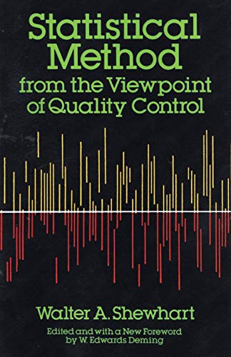 Compare Textbook Prices for Statistical Method from the Viewpoint of Quality Control Dover Books on Mathematics F First Edition Edition ISBN 0800759652327 by Walter A. Shewhart,W. Edwards Deming