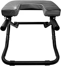 Pilates Chairs Yoga Chair/Inverted Stool Multifunctional Yoga Chair Inverted Auxiliary Chair Household Inverted Device Inverted Machine Fitness Equipment Foldable Strong Gravity (Color : Black)