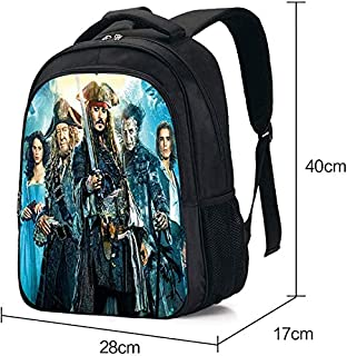 Children's bag/Primary School Backpack Fashion 3D Somali Pirate Kid's Book Bag Shoulder Bag for Children Aged 6-12 A-16 in...
