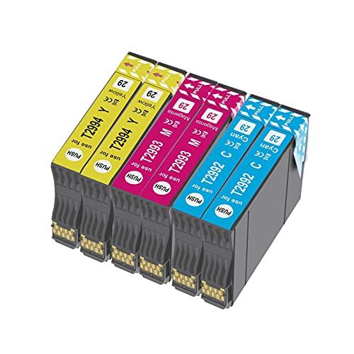 BADA 29XL - Cartuchos de tinta para Epson 29XL para Epson Expression Home XP-235 XP-245 XP-247 XP-330 XP-332 XP-335 XP-342 XP-345 XP-430 XP-432 XP-435 (6 unidades)