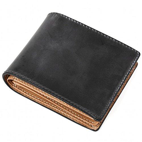 『[ラファエロ] ブライドルレザー 二つ折り財布 メンズ (チョコ)』のトップ画像