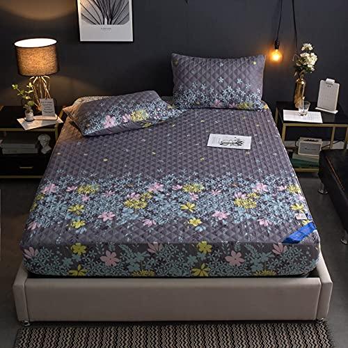 uyeoco Protector de colchón Microfibra - Transpirable - Funda para colchon estira hasta de Profundidad (Color : C, Size : 120X200cm)