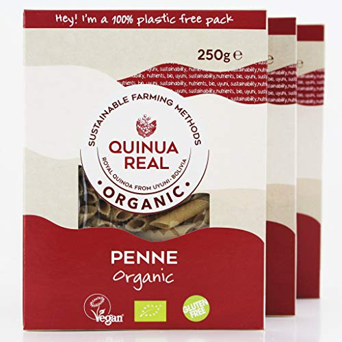 Organic Quinoa and Rice Penne Pasta, Gluten Free Pasta, Vegan, NON-GMO and Corn Free; Made in Italy Using Only 100% Organic Flour and Organic Ingredients – 3 Pack, 8.82 oz each