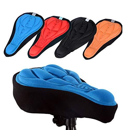 USLION Cycling Bike 3D Silicone Gel Pad Seat Saddle Cover Soft Cushion, Mountain Bike Cycling, Bicycle Saddle (Black)